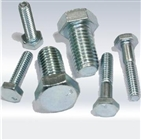 white zinc plated hexagon nuts